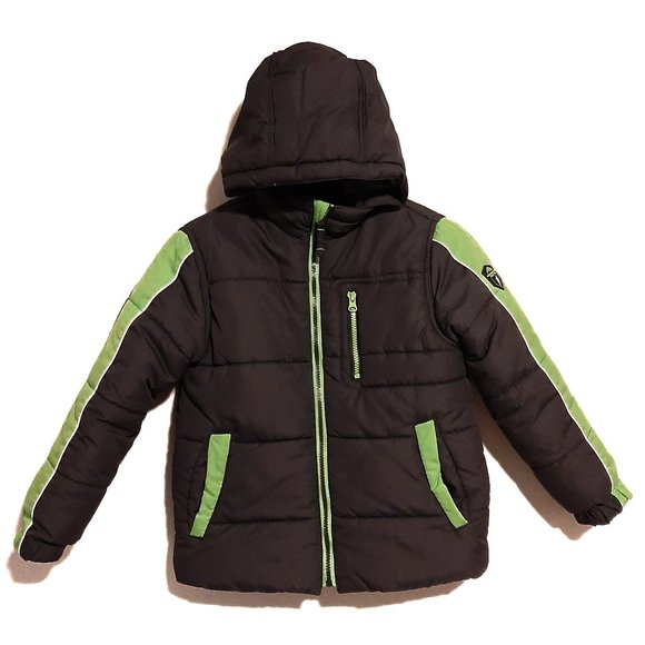 Protection System Hooded Puffer Jacket Coat Boys